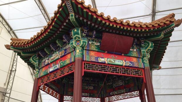 chinese pagoda unveiled in saskatoon cbc news