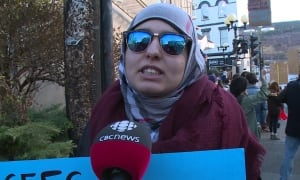 Mona Shannair refugee rally St. John's