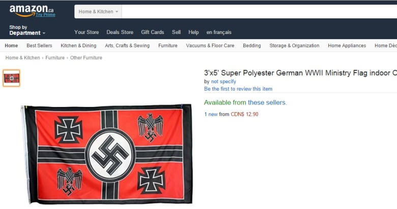 Amazon under fire for allowing sale of Nazi paraphernalia