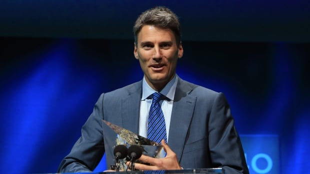 "Mayor of Vancouver, Gregor Robertson, speaks after receiving an award in the category of ""Carbon Measurement and Planning"" during the C40 cities awards ceremony, in Paris, Thursday, Dec. 3, 2015. The C40 cities awards recognize cities for their leadership in tackling climate change across key sectors."