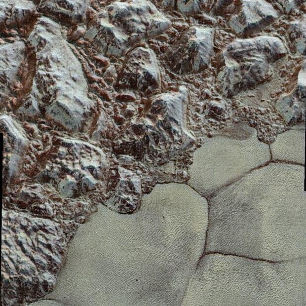 Pluto closeup colour
