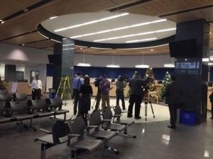 Lobby of Police HQ