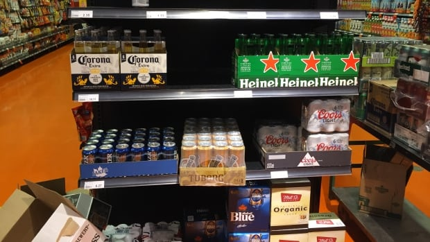 Spotted on the shelves of the Leslieville Loblaws: beer.