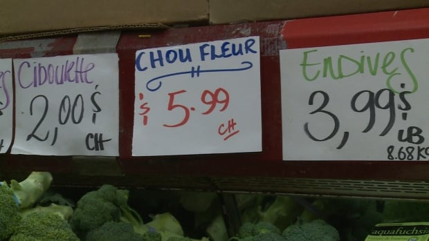 The prices of fruit and vegetables are rising quickly because of a low Canadian dollar, according to a study from the University of Guelph Food Institute.