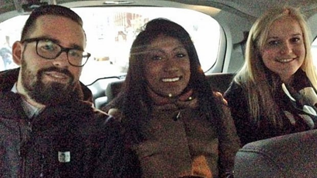 These three passengers piled in to an UberHop minivan, making the trip from Liberty Village to the Financial District in about 15 minutes.