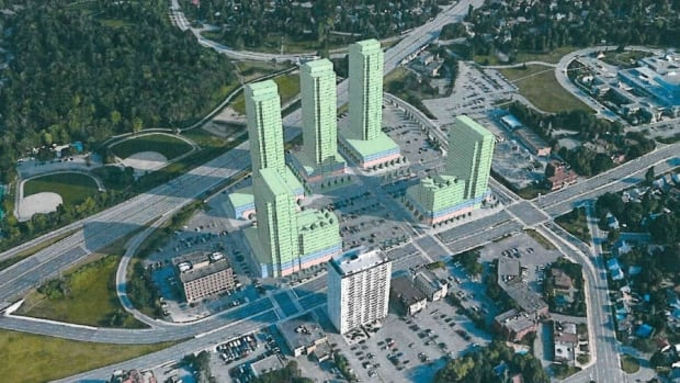 If the development of the Westgate Shopping Centre goes ahead as planned, the city's oldest mall will be the site of five mixed-use towers.