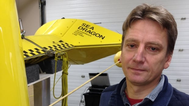 "Dr. Ralf Bachmayer is part of the team at Memorial University that developed the ""Sea Dragon"" marine drone vehicle to study icebergs off the province's shores."