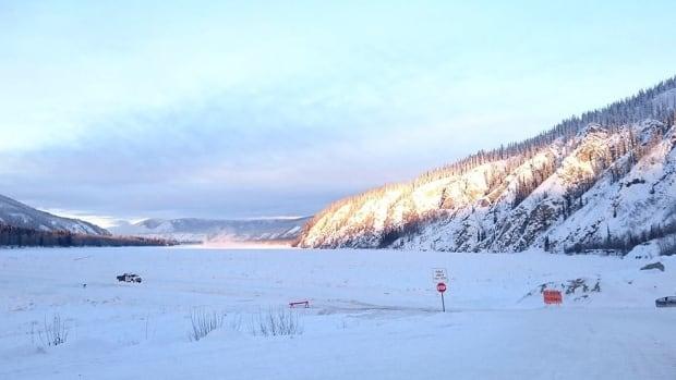 Work is now underway on the Yukon River ice bridge.