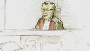 Justice John (Jack) Walsh, Court of Queen's Bench, sketch