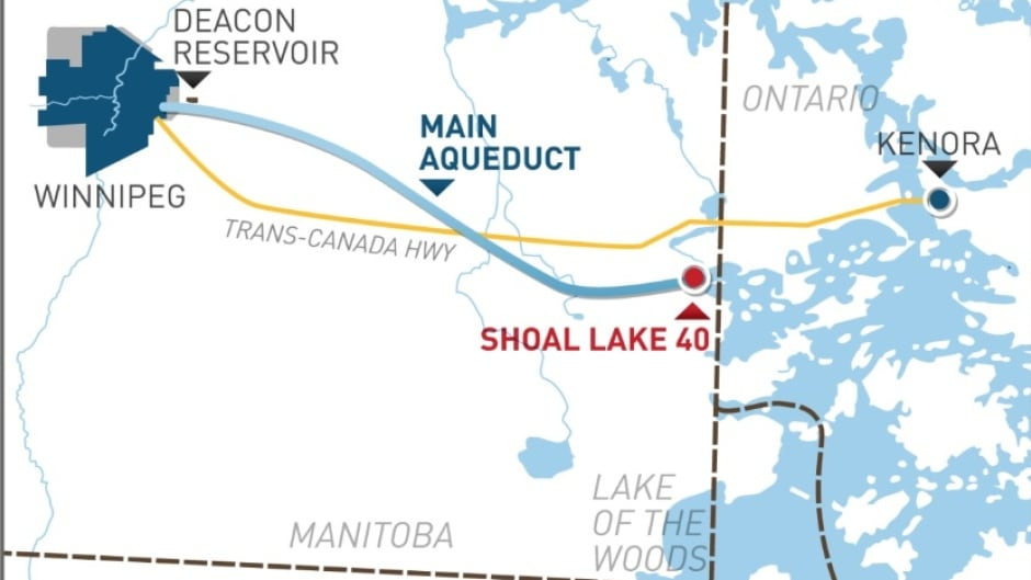 Map Of Kenora Canada.Map A Guide To Shoal Lake 40 First Nation Cbc Radio