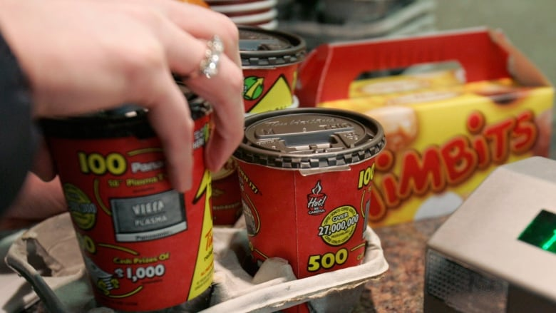 Tim Hortons timbits and cofffee