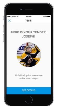 puck app screenshot hockey goalie uber goaltender rental