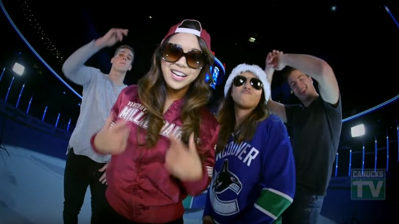9dfd42426 Jake Virtanen and Ben Hutton were the background dancers to a parody rap  music video co-written by Arielle Tuliao