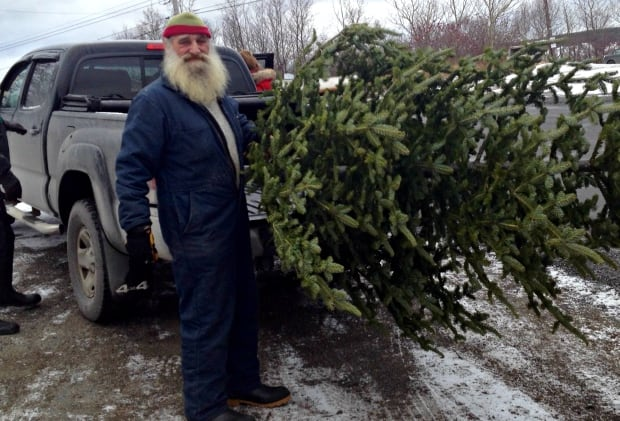 Ralph Boonie Lethbridge selling Christmas trees in Clarenville