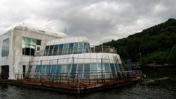 For nearly three decades Expo 86's McBarge has been tied up in Burrard Inlet.