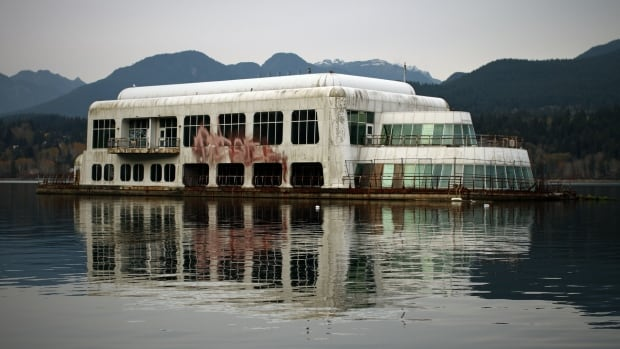 The McBarge sat in Burrard Inlet until 2015.