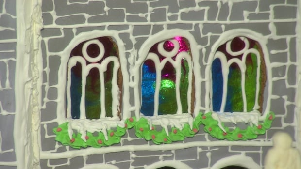 Gingerbread Basilica stained glass