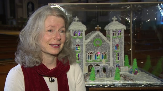 Baking is just a hobby for Colleen Stone, but she spent 65 hours creating a gingerbread model of the Basilica.