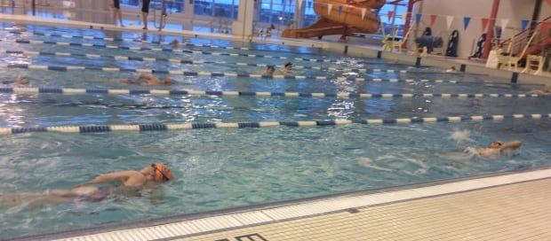 PEI paraswimmers doing laps at CARI pool