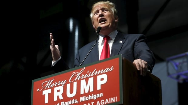 With the U.S. vote on Nov.8, will 2016 turn out to be a year of triumph and Trump? Republican presidential candidate Donald Trump speaks at a campaign rally in Grand Rapids, Michigan Dec. 21, 2015.
