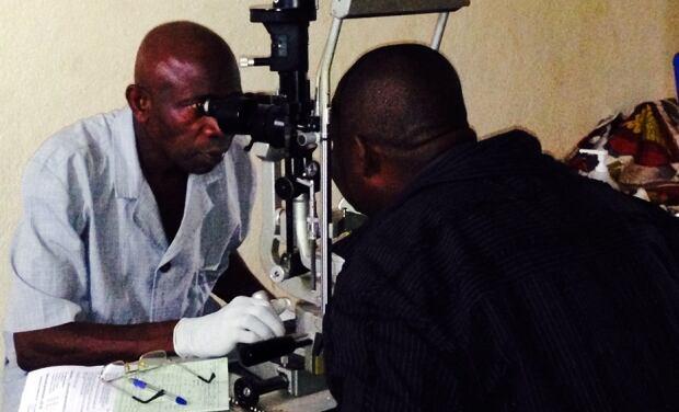 Ebola eye exam