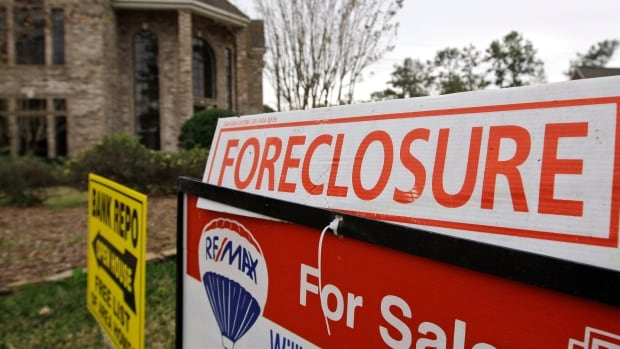 Foreclosures in Calgary are up 54 per cent from two years earlier, and the number of mortgages in arrears has also been on the rise.