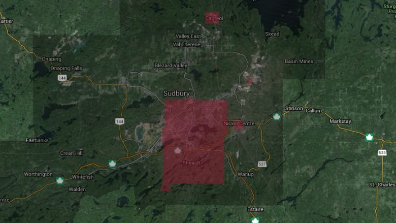 Northeast Power Outage Map.Power Outages Affecting Thousands In Sudbury Northeast Cbc News