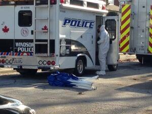 Investigator at scene of Oak Street shooting