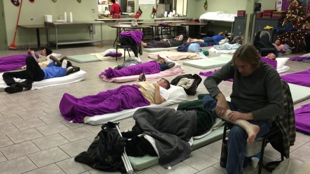 A homeless shelter in Windsor, Ont. Raising the Roof says a growing number of families in Canada are using such shelters.