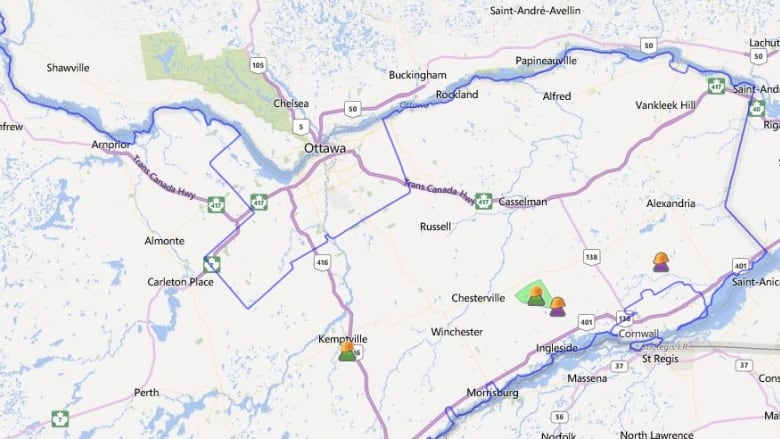 Pockets Of Eastern Ontario Go Without Power On Christmas Day Cbc News
