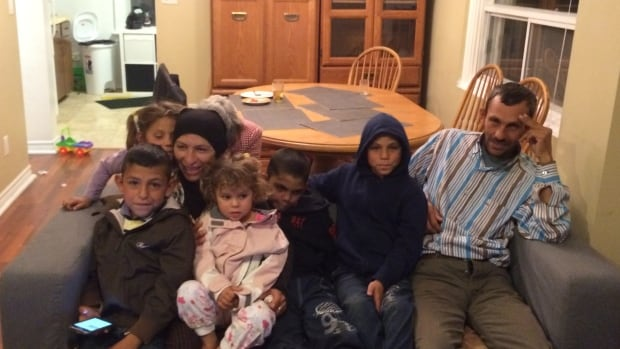 Wahida and Hussein Bakour fled Syria with their children after the brutal civil war began four years ago.  Mohamad, 7, Malak, 6, Rahaf, 3, and twin boys Ali and Fawaz, 10, are in a home in Toronto thanks to a Toronto church congregation's help.