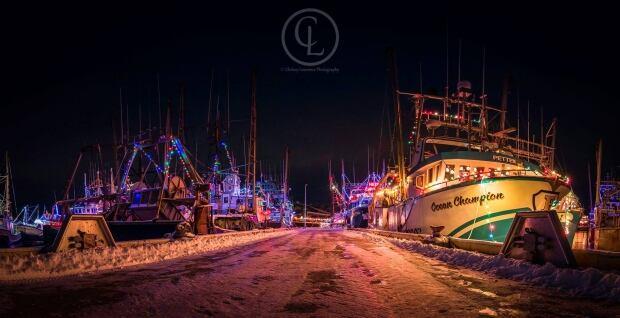 Port de Grave Christmas lights boats Chelsea Lawrence