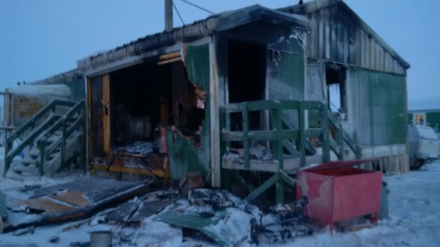 A fire destroyed the home of a family of 10 in Tuktoyaktuk, N.W.T., Christmas Eve.