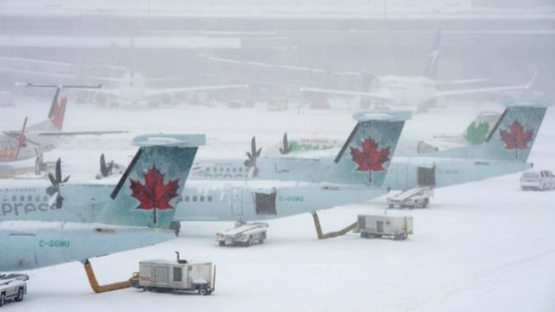 Flight cancellations and delays were a common sight at the Halifax Stanfield International Airport this morning, but it's a different story altogether at the J.A. Douglas McCurdy Sydney Airport.