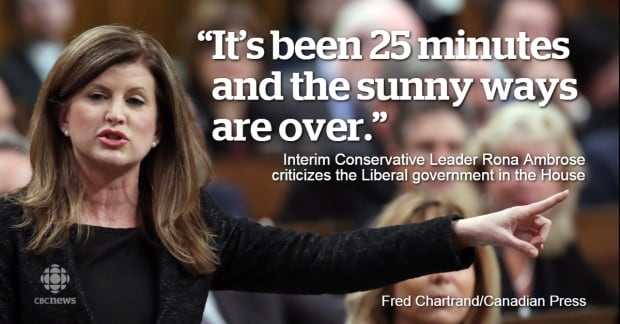 Rona Ambrose calls out sunny ways
