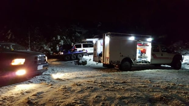 Central Fraser Valley Search and Rescue rescued six people stranded on Sumas Mountain, B.C. early Tuesday morning.