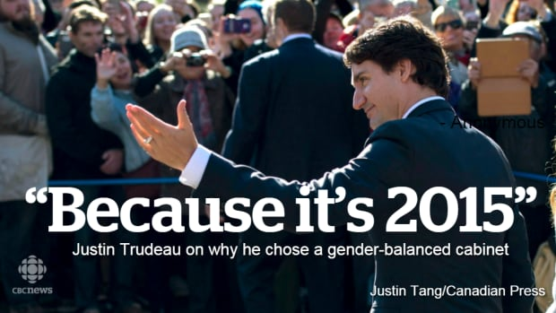 During his first public address as prime minister, Justin Trudeau was asked about the importance of gender parity in his cabinet. The quote above was his response.