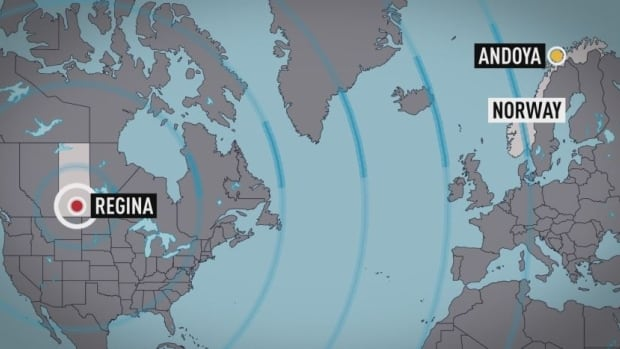 Andøya, Norway is more than 5,800 kilometres from Regina, Sask.