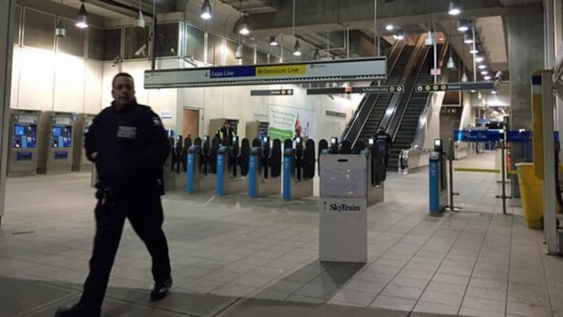 b.c. earthquake skytrain closed