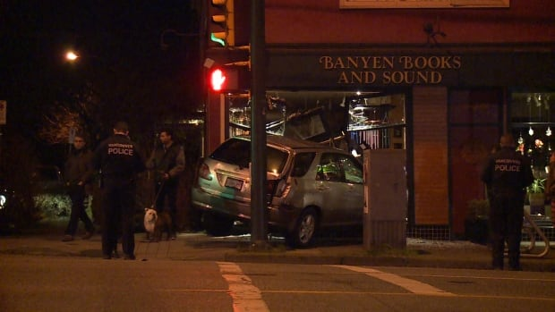 Banyen Books suv crash