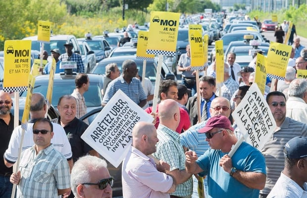 Taxi Uber Protest 20150825