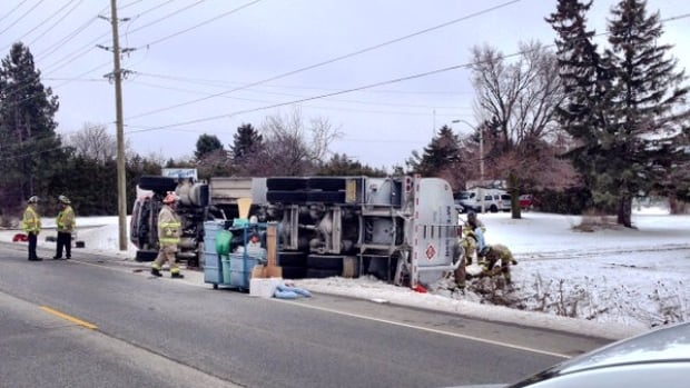 Recovery efforts were under way at the tanker rollover on Trafalgar, say police.
