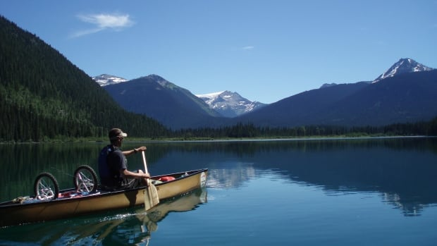 The 116-kilometre wilderness canoe circuit at Bowron Lake takes between 6 to 10 days to complete, depending on conditions and skill level, according to B.C.'s Ministry of Environment.