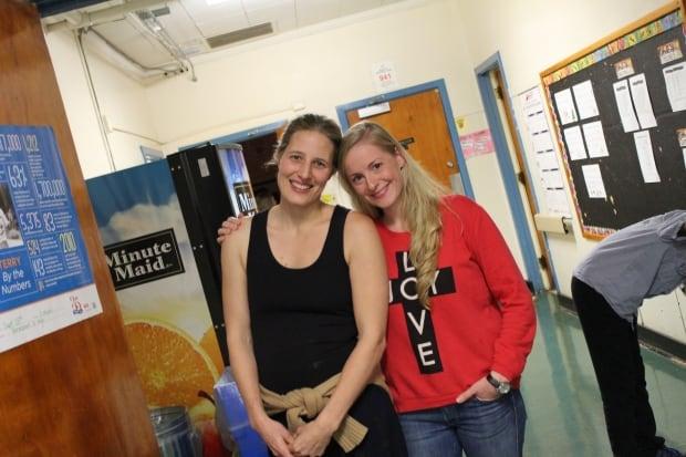 Teachers Mary Chisholm and Monique Ouellette