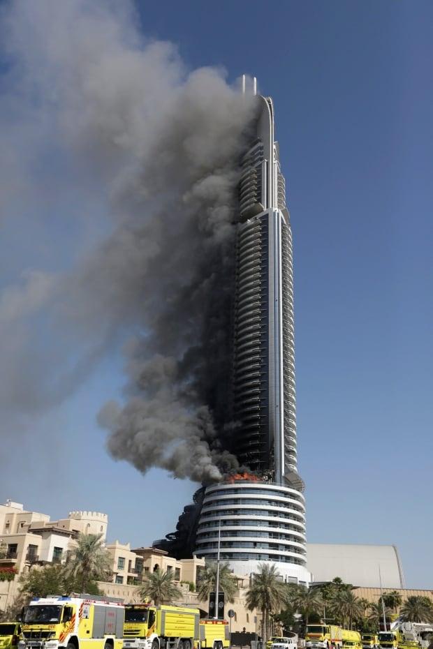 Mideast Emirates Fire