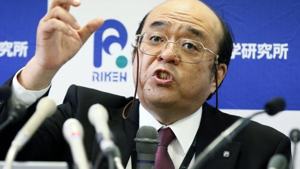 Kosuke Morita of Riken Nishina Centre for Accelerator-Based Science speaks during a press conference in Wako, Saitama prefecture, near Tokyo on Thursday after his research team met the criteria for naming a new element.