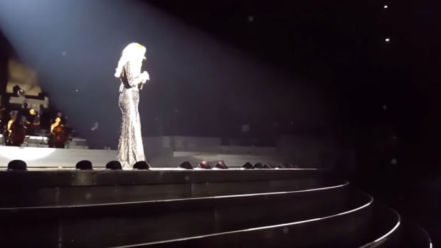 Celine Dion performing Hello in Las Vegas