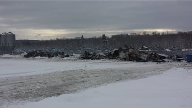 This is the facility at Brome Lake Ducks near Racine, Que., where the ducks died in a fire on Saturday night.