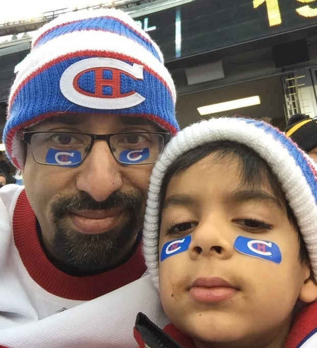 Adam Ahmed and his dad