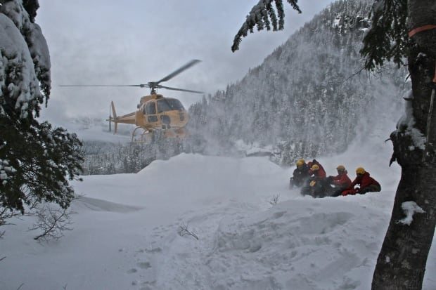 North Shore Rescue helicopter pick up